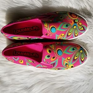 New Loudmouth peacock pink sneakers 8.5
